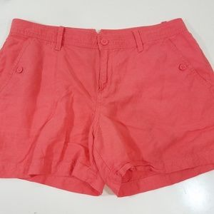 Calvin Klein Women's Linen Short Size 12 Peach
